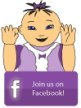 baby sign language picture of a little girl in purple signing join us on Twitter!