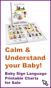 Calm & understand your baby! Baby Sign Language printable charts for sale!
