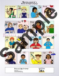 Picture of baby sign language poster signing chart with custom illustrated babies signing motivational signs