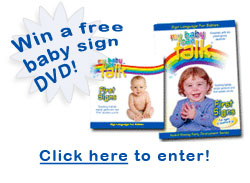 picture of baby sign language dvd and book set with toddler girl in pink clothing with hands clasped