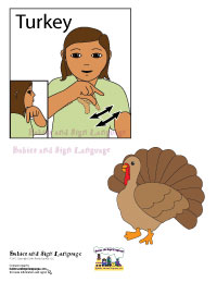 Baby sign for turkey