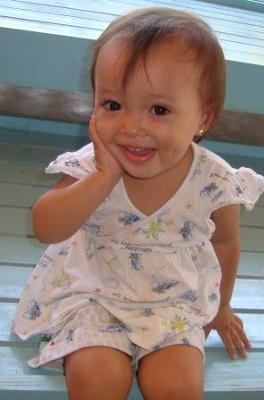 My daughter using toddler (baby) sign language