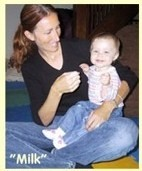 picture of baby doing sign language, baby sign picture, baby sign pictures, toddler signing picture