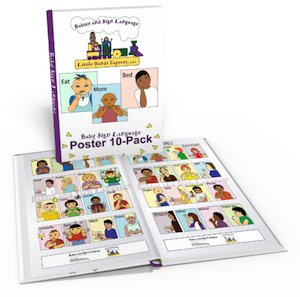 10 pack baby sign language posters