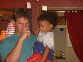 fathers dads use using toddler baby sign language picture